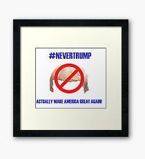 """#NEVERTRUMP"" Framed Print"