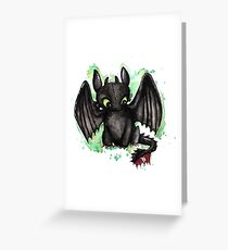 Toothless Watercolor Greeting Card