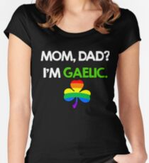 St. Patrick's Gay Gaelic Women's Fitted Scoop T-Shirt