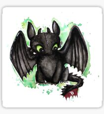 Toothless Watercolor Sticker