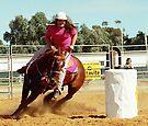 Barrel Racing by Jenny Brice