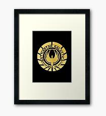 Battlestar Galactica Golden Logo Framed Print