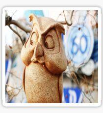 60th Owl Sticker