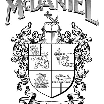McDaniel family crest / heraldic shield / coat of arms by amcdanny