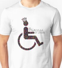 Princess On Wheels (floral) T-Shirt