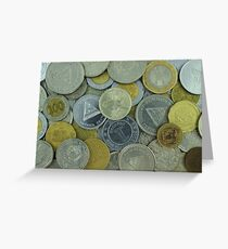South American Coins Greeting Card