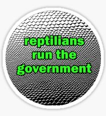 reptilians sticker Sticker