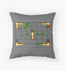 Bomberman Board Throw Pillow