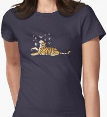 Paper Crane Tiger Women's Fitted T-Shirt