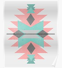 Geometric Southwestern Style Print Poster