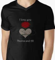 Thorns and All - A Court of Thorns and Roses Men's V-Neck T-Shirt