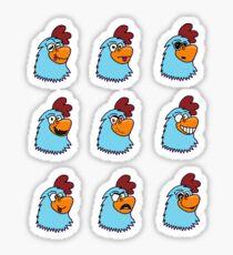 Colarooster variations Sticker