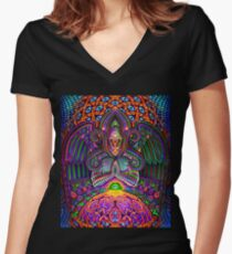 The God Source Women's Fitted V-Neck T-Shirt