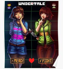 Undertale Mercy or Fight Poster