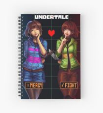 Undertale Mercy or Fight Spiral Notebook