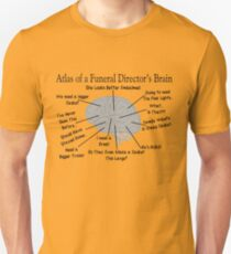 Funny Funeral Director's Brain T-Shirt