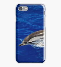 A wild free dolphin jumping  iPhone Case/Skin