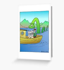 Extra! Extra! Loch Ness Monster a Myth! Greeting Card