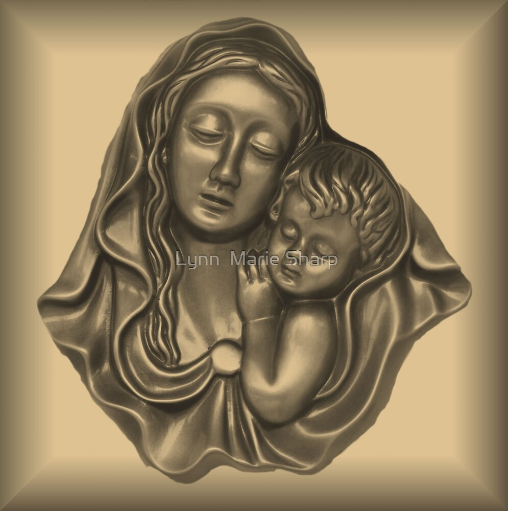 Mary and Baby Jesus by Marie Sharp