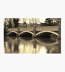 The old Weybridge bridge over the Wey Photographic Print