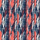 graphic pattern of feathers by Tanor