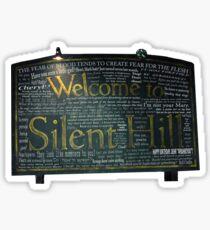 Pegatina Cotizaciones de signos de Silent Hill