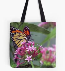 Monarch in pink ixora Tote Bag