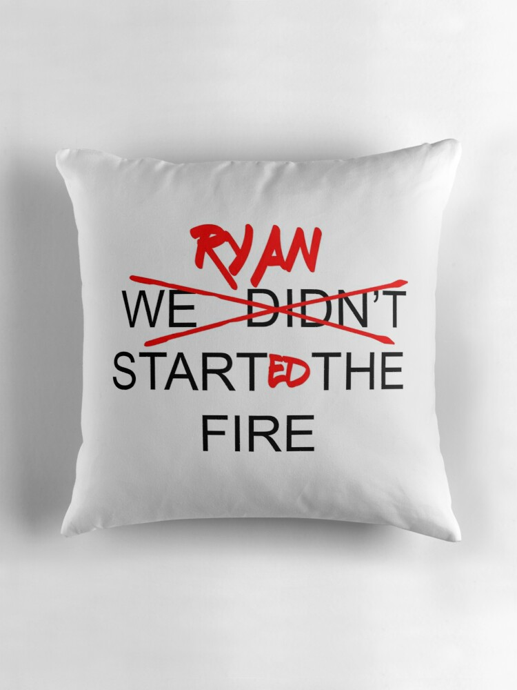 Quot The Office Us Ryan Started The Fire Quot Throw Pillows By