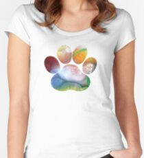 Dog Paw Art Women's Fitted Scoop T-Shirt