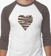 0227 Desert Sand Tiger Men's Baseball ¾ T-Shirt