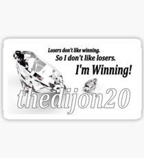I'm Winning Sticker