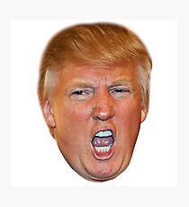 Angry Trump Head Photographic Print