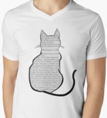 Cats and Jane Eyre Men's V-Neck T-Shirt