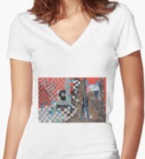Evita Women's Fitted V-Neck T-Shirt