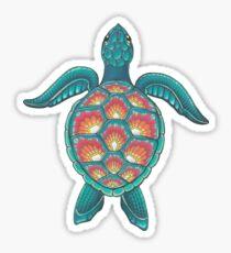 Mandala-Schildkröte Sticker
