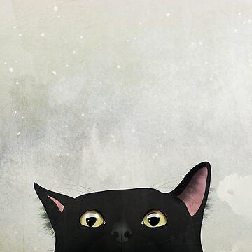 Curious Black Cat by nannapaskesen