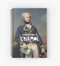 favorite fighting frenchman Spiral Notebook
