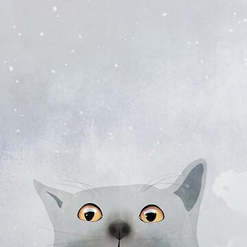 Curious Grey Cat by nannapaskesen