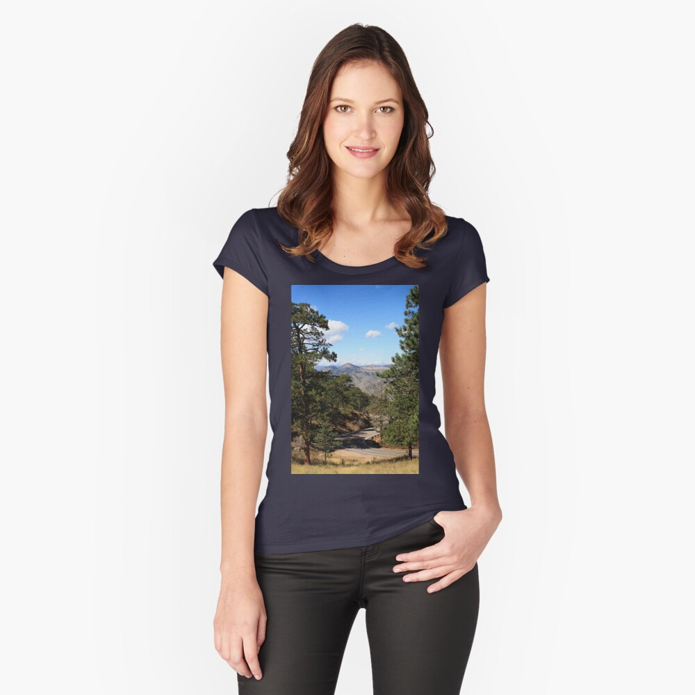 The Long And Winding Road Women's Fitted Scoop T-Shirt Front