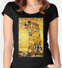 Gustav Klimt The Embrace Women's Fitted Scoop T-Shirt