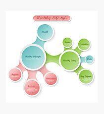 Healthy Lifestyle infographics Photographic Print