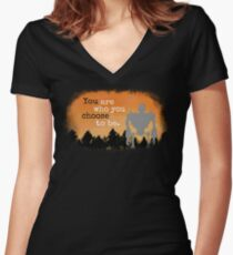Iron Giant: You Are Who You Choose To Be Fitted V-Neck T-Shirt