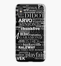 Typefaces Design (1/6) iPhone Case/Skin