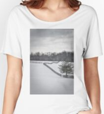 The Color of Winter BW Women's Relaxed Fit T-Shirt