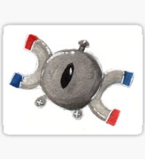 Pokémon Magnemite watercolor illustration Sticker