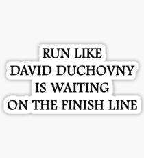 Run like David Duchovny Sticker