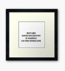 Run like David Duchovny Framed Print