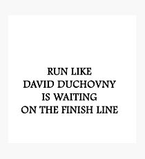 Run like David Duchovny Photographic Print