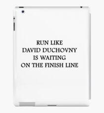 Run like David Duchovny iPad Case/Skin
