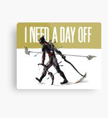 warframe i need a day off Metal Print